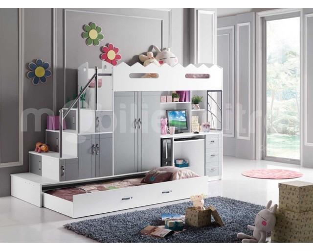 lit mezzanine noa la rolls des lits pour enfant voici notre avis. Black Bedroom Furniture Sets. Home Design Ideas