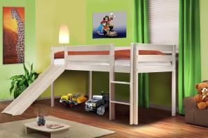 lit enfant avec toboggan