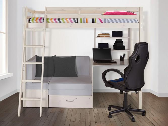 comparatif lit mezzanine avec bureau accueil